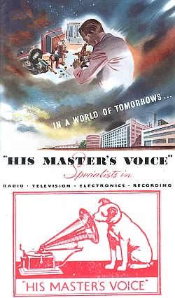 In a world of tomorrows... His Master's Voice