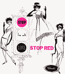 STOP - look - LOVE - Stop Red